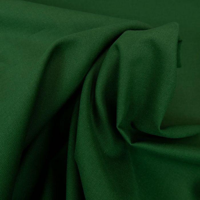 Tissu cretonne coton uni - vert olive x 10cm