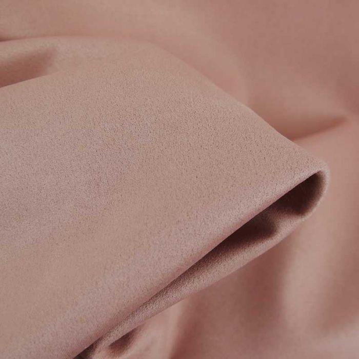 Tissu suédine scuba uni - rose x 10 cm