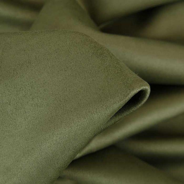 Tissu suédine scuba uni - vert kaki x 10 cm