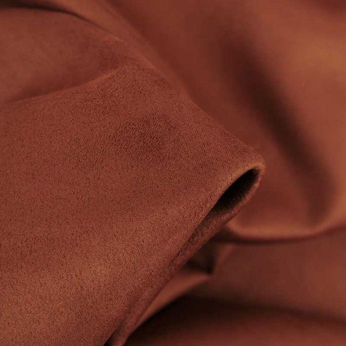 Tissu suédine scuba uni - rouge brique x 10 cm
