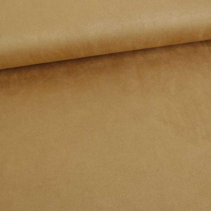 Tissu suédine scuba uni - camel x 10 cm