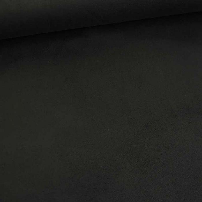 Tissu suédine scuba uni - noir x 10 cm