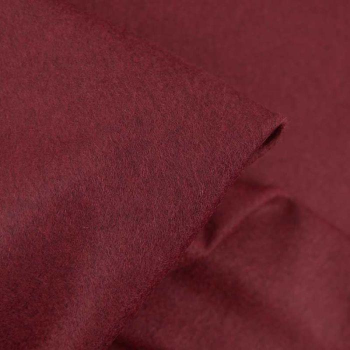 Tissu 100% cachemire haute couture - rouge brun x 10 cm