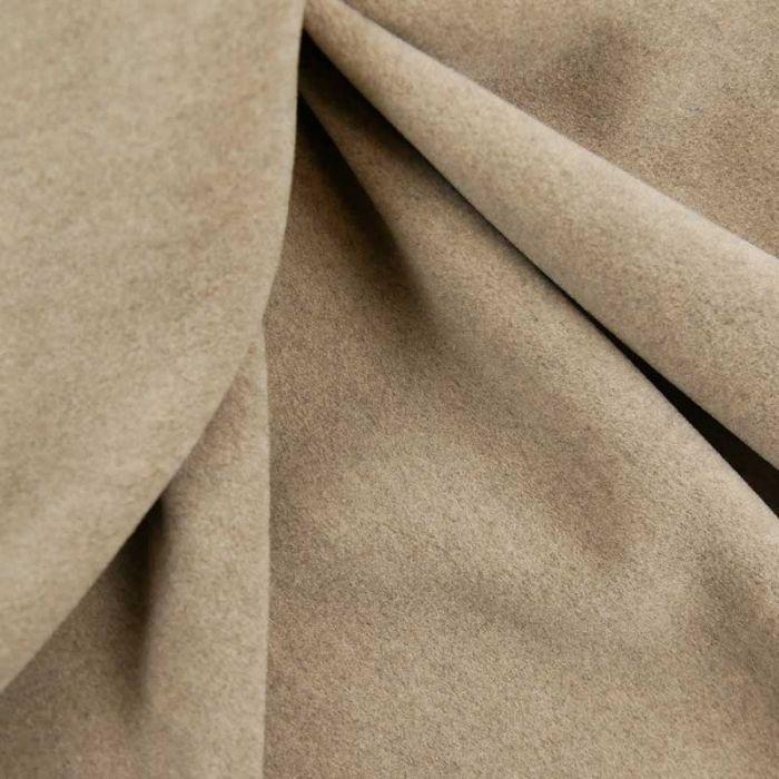 Tissu 100% cachemire haute couture - gris beige x 10 cm