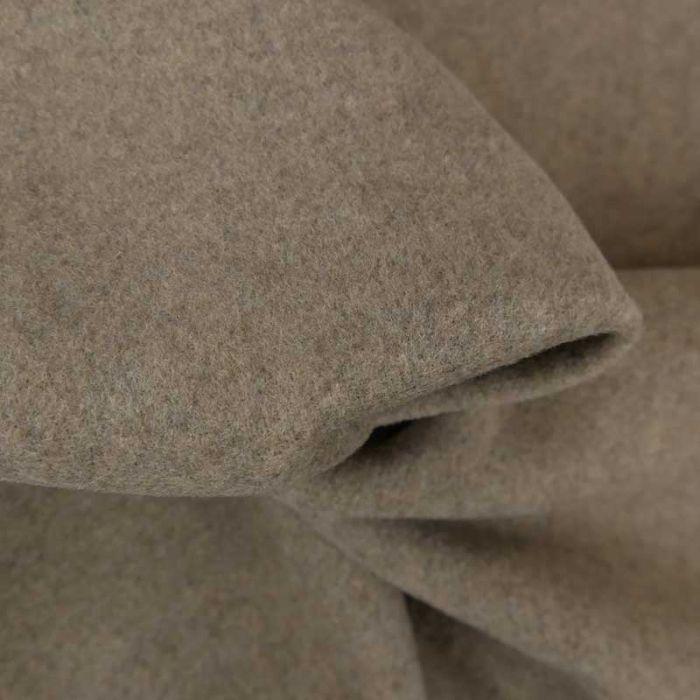 Tissu lainage haute couture - gris beige x 10 cm