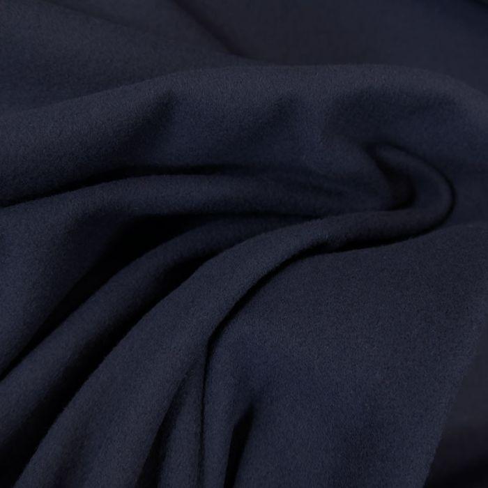 Tissu laine et cachemire bleu marine - haute couture x 10 cm