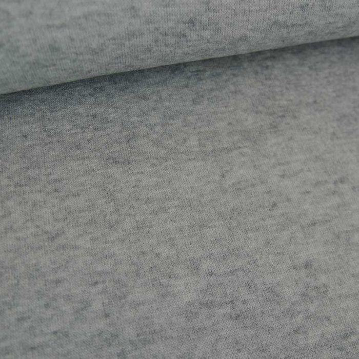 Tissu jersey viscose chiné fin - gris clair x 10 cm