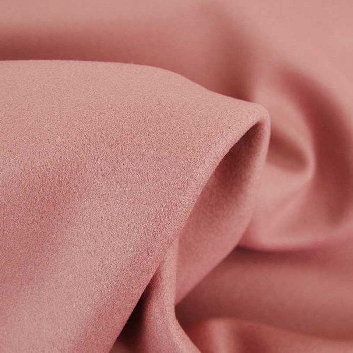 Tissu lainage uni - vieux rose x 10 cm