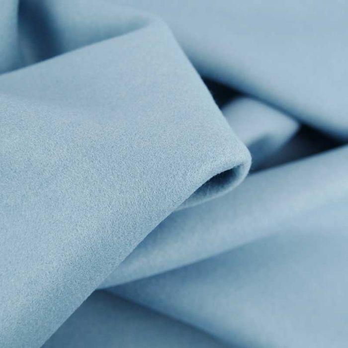 Tissu lainage uni - bleu layette x 10 cm