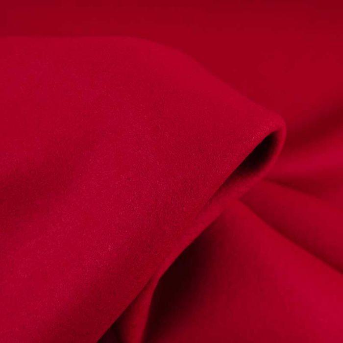 Tissu lainage uni - rouge x 10 cm