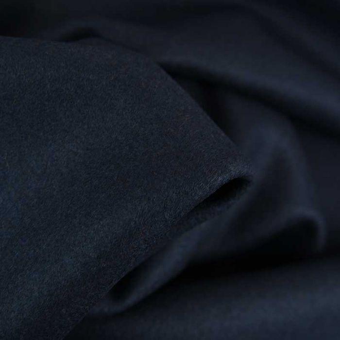 Tissu lainage uni - bleu foncé x 10 cm