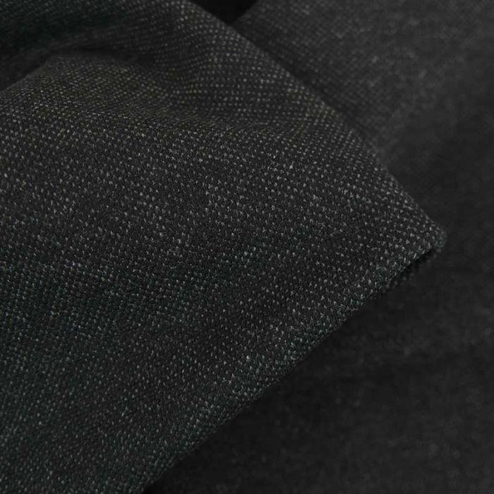 Tissu jersey piqué double face - gris chiné x 10 cm
