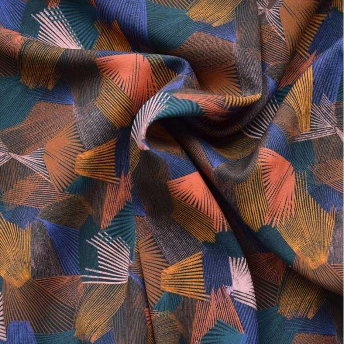 Tissu viscose Kaléidoscope Dark - Cousette x 10 cm