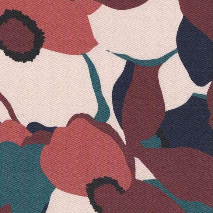 Tissu twill viscose Magnolia Mélèze - Cousette x 10 cm
