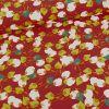 Tissu viscose oeko-tex fleurs séchées - brique x 10cm