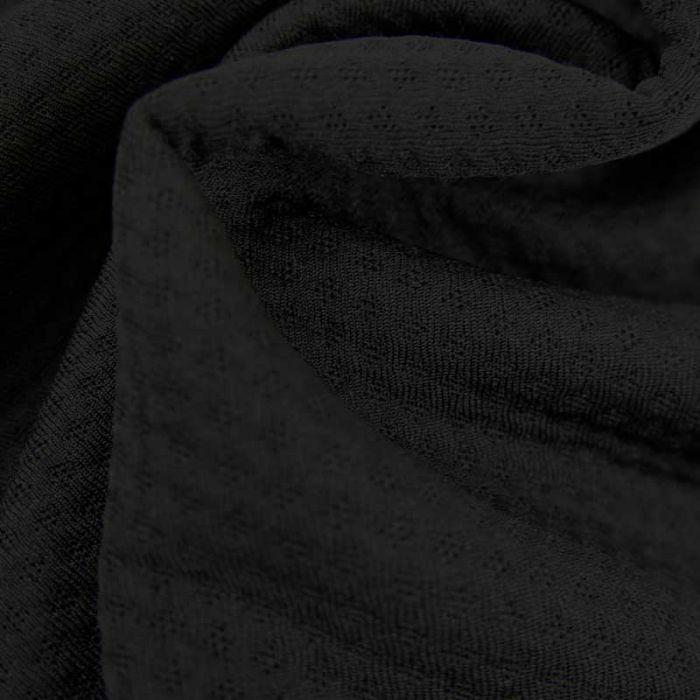 Tissu super absorbant ZORB 3D coton bio - noir x 10 cm