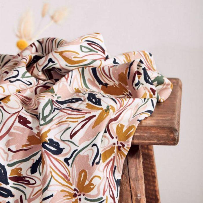 Tissu Hilma Off-White - Atelier Brunette x 10 cm