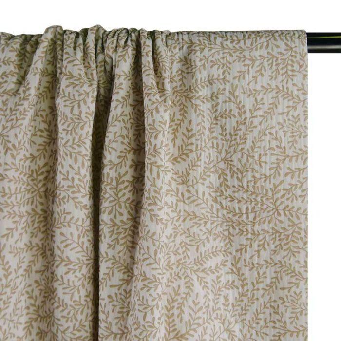 Tissu double gaze bio petites pousses -  blanc x 10cm