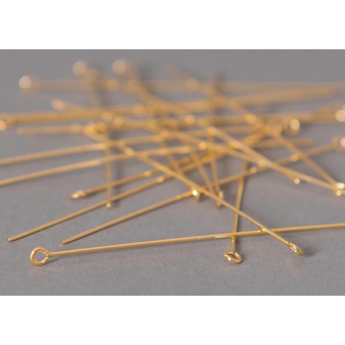 Tiges avec oeillets 81mm doré