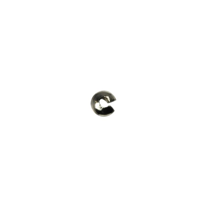 Cache perle à écraser Argent Vieilli 3 mm X20