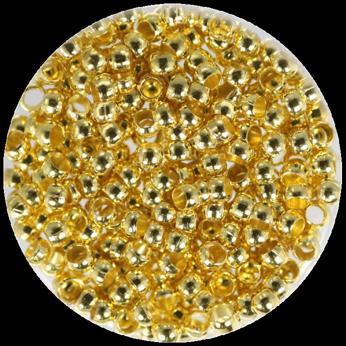 Perle à écraser Doré 2.5 mm X100 pcs environ