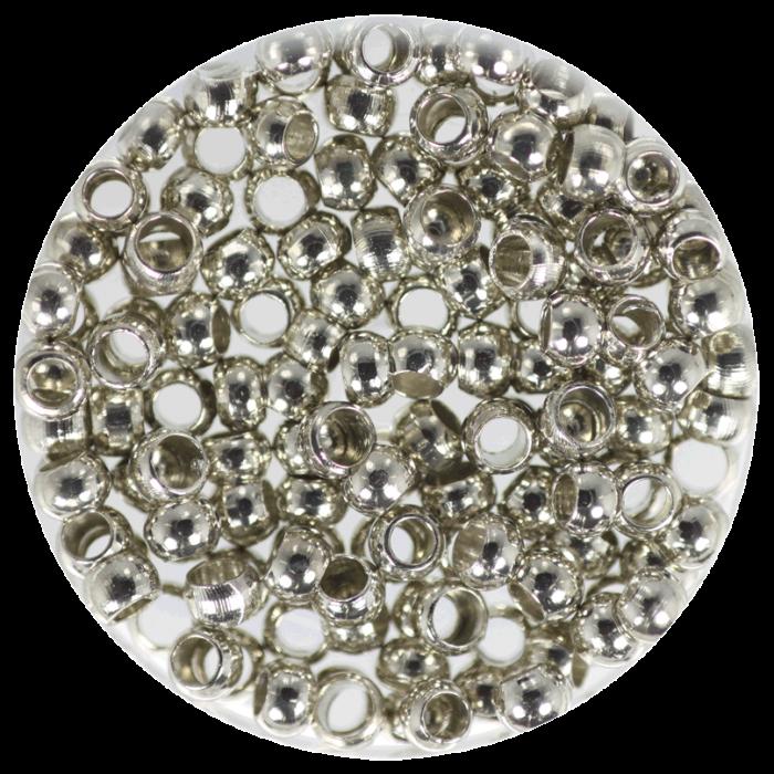 Perle à écraser Argent Vieilli 3 mm X50 pcs environ