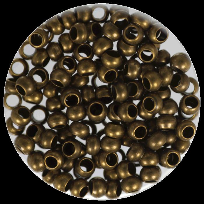 Perle à écraser Bronze 3 mm X50 pcs environ