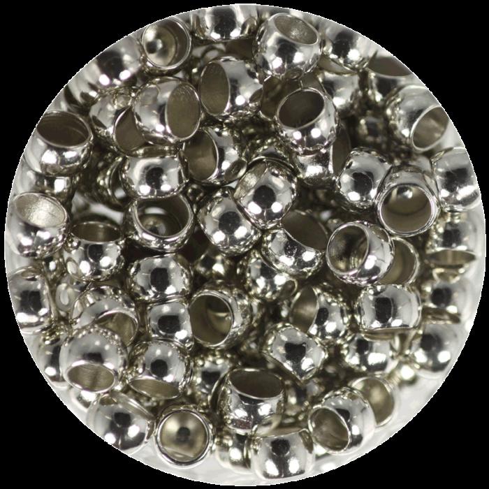 Perle à écraser Argent Vieilli 4 mm X50