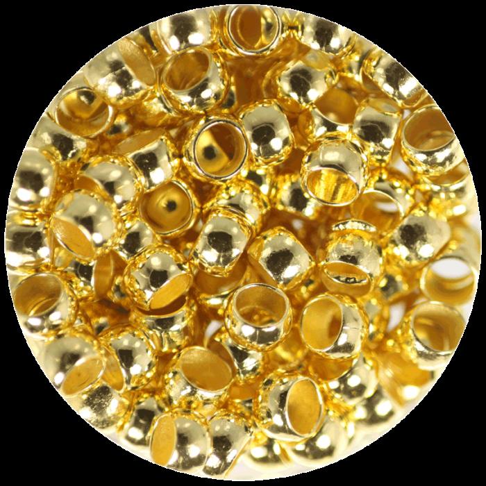 Perle à écraser Doré 4 mm X50