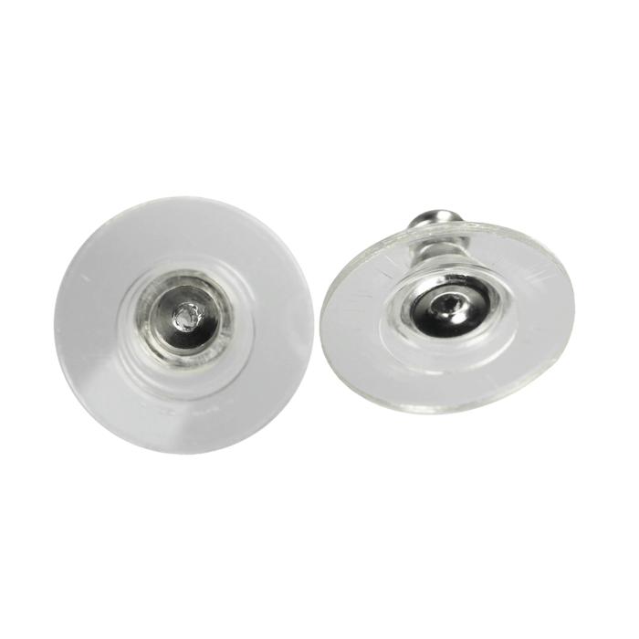 Poussoirs pour boucles d'oreilles laiton et nylon 12 mm x 10