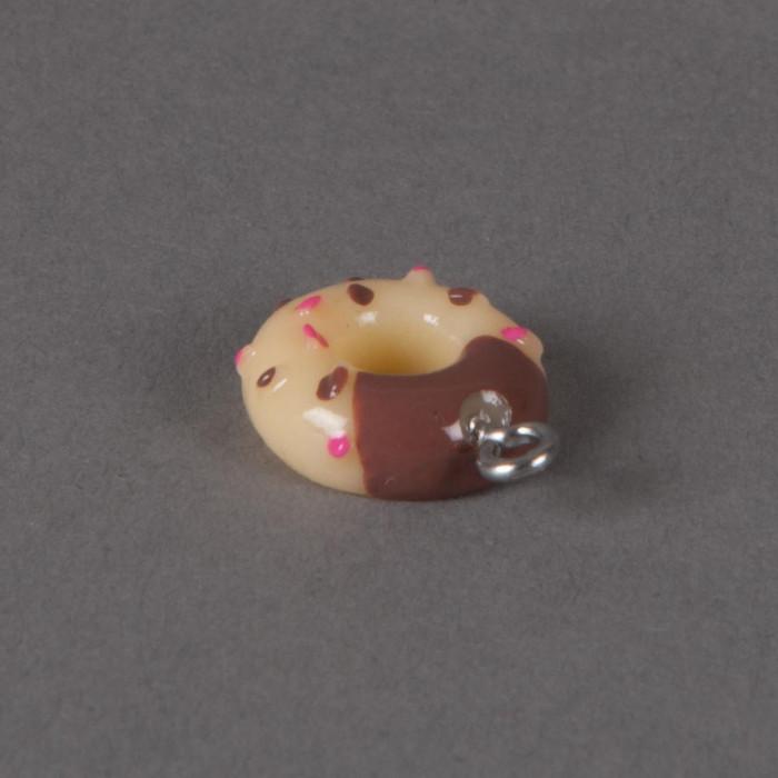 Breloque Donuts vermicelles multicolores x1
