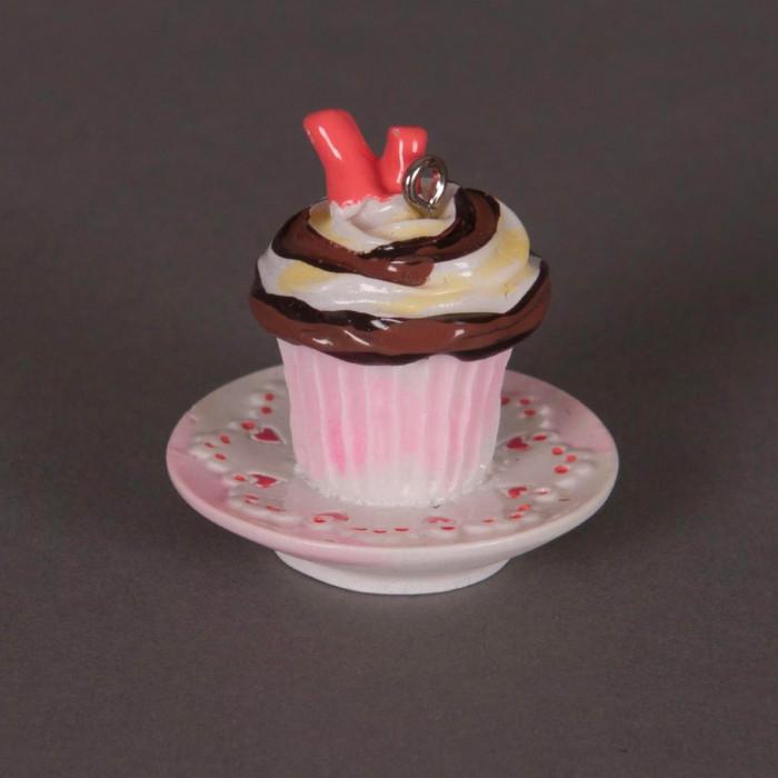 Breloque Cupcake topping guimauve x1