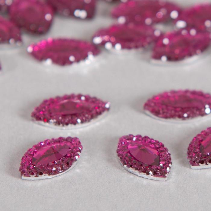 Cabochon ovale à facettes 12mm violet x1