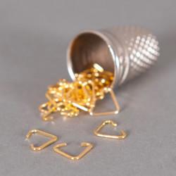 Bélière simple 6mm doré x10
