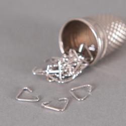 Bélière simple 6mm argent vieilli x10