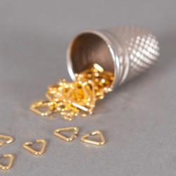 Bélière simple 4mm doré x10