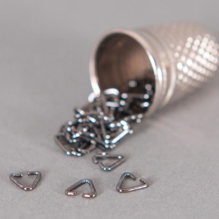 Bélière simple 4mm argent noirci x10