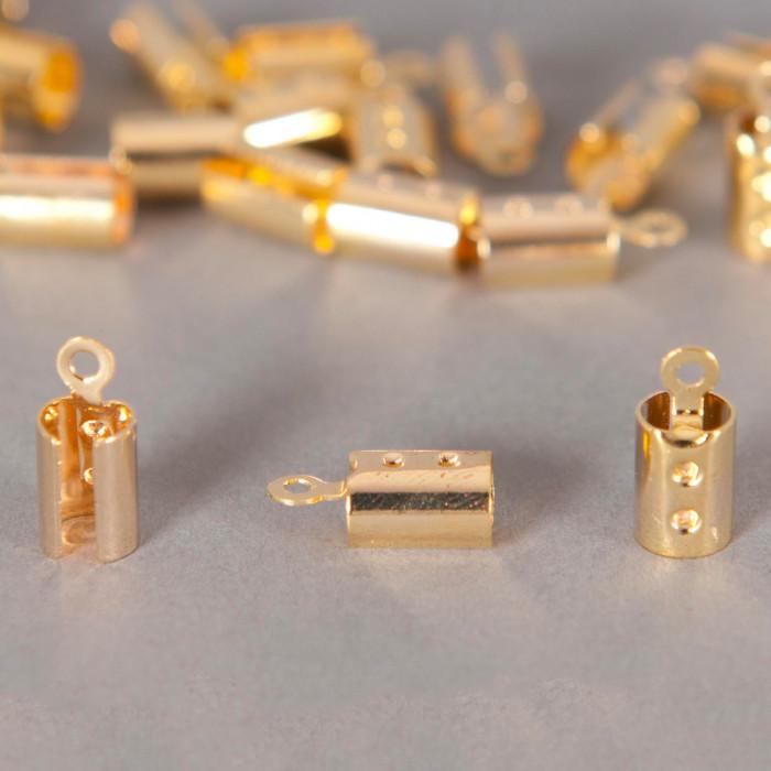 Embouts de serrage cordon doré 5mm x10