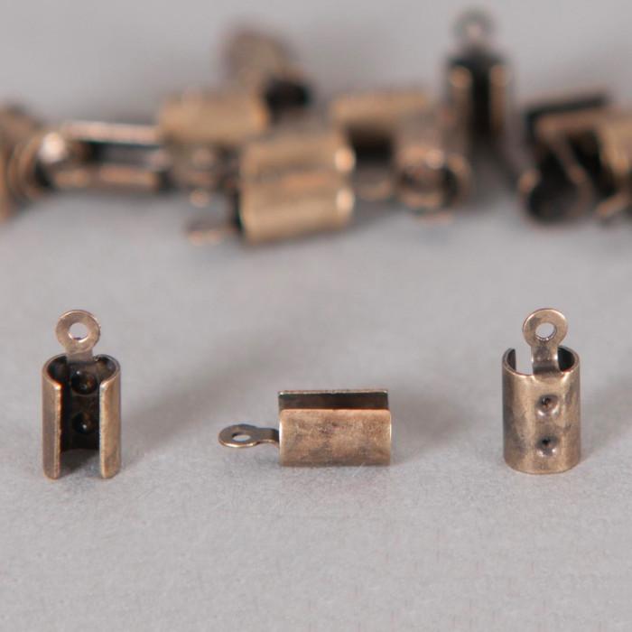 Embouts de serrage cordon bronze 4mm x10