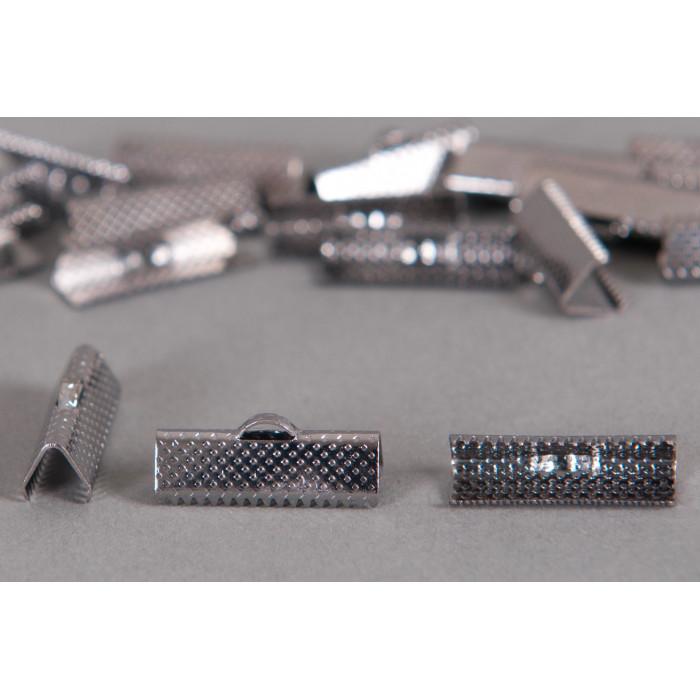 Embouts de serrage ruban argent noirci 20mm x6