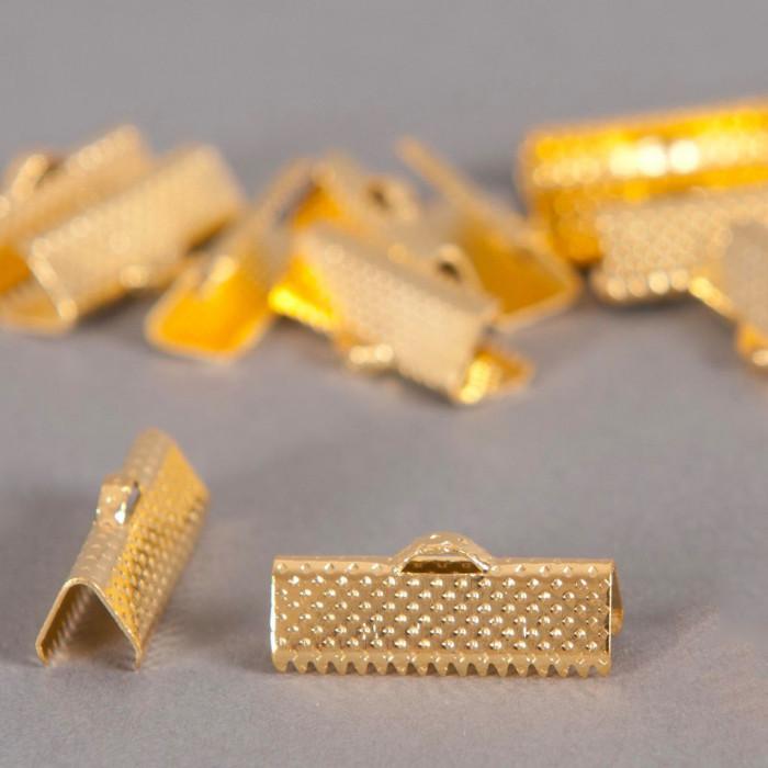 Embouts de serrage ruban doré 20mm