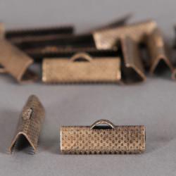 Embouts de serrage ruban bronze 20mm x6