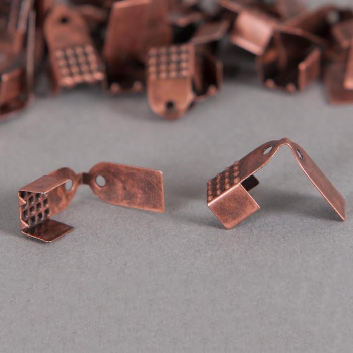 Embouts de serrage ruban 6mm cuivre x10
