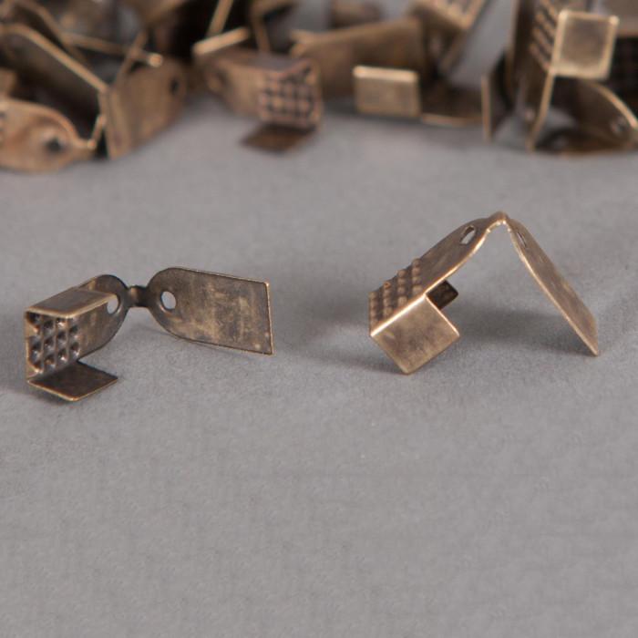 Embouts de serrage ruban 6mm bronze x10
