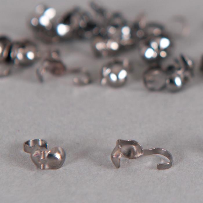 Cache noeud argent noirci 3mm x10