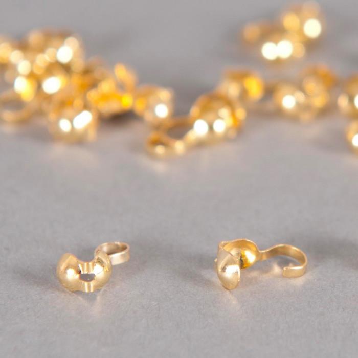 Cache noeud doré 3mm x10