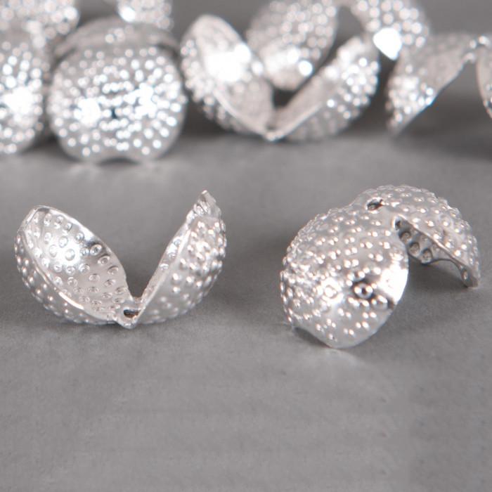 Cache noeud argent vieilli 14mm