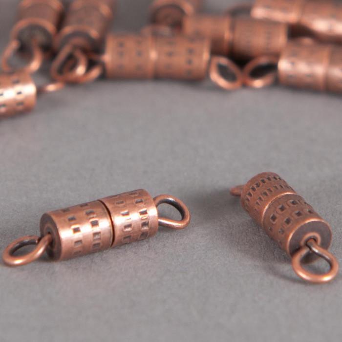 Fermoirs à vis 15mm cuivre x5