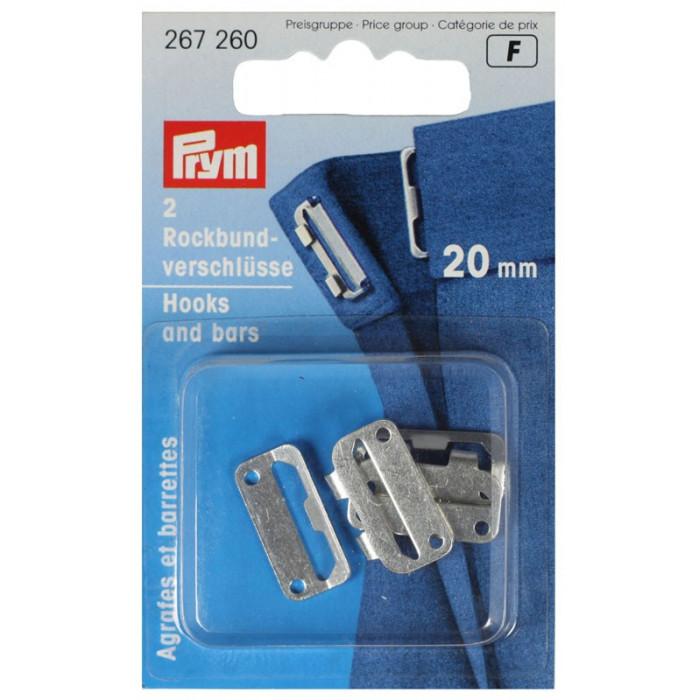 Agrafes et barrettes Prym 20 mm Argent