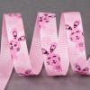 Ruban gros grain 10 mm lapin - rose x 10 cm